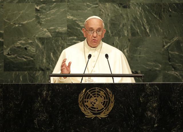 El Papa Francisco instó a las autoridades de todo el mundo que se ponga especial interés en la inclusión de la Agenda 2030.
