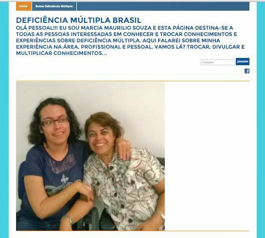 Brasil: Nuevo Blog sobre Discapacidad Múltiple en portugués