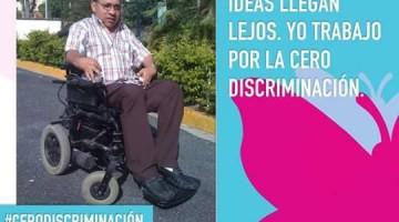 En la fotografía Miguel Ángel García de ASODIFIMO, como parte de esta campaña.